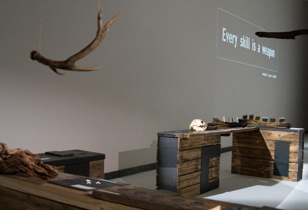 Mali Weil - Animal Spirits concept store Triennale di Milano. An hunting ground where you can become a warrior