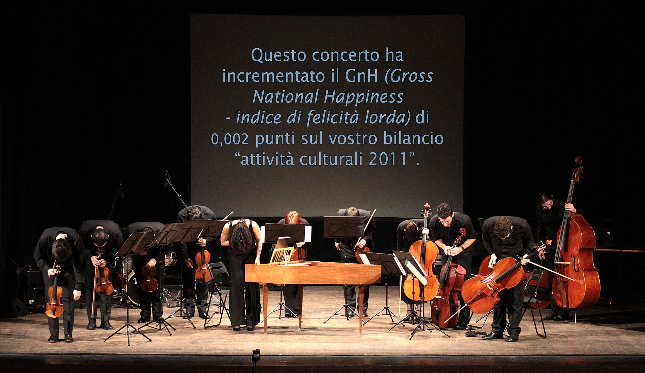 The world is a matter of measures by Mali Weil with orchestra and Gross national Happiness