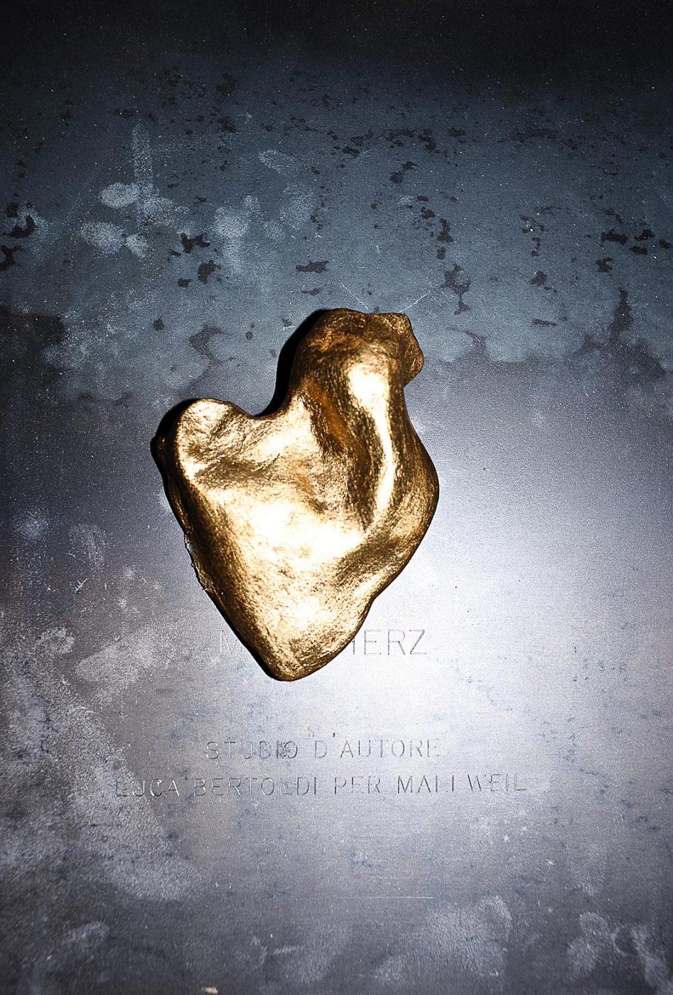 Mein herz - studio by Luca Bertoldi gold and ceramic